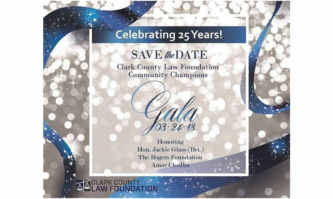 Clark County Law Foundation Save-The-Date Gala 2018