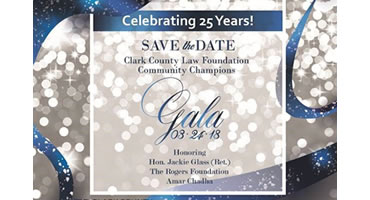 Community Champtions Gala, March 24, 2018, by the Clark County Law Foundation and Trial by Peers Program